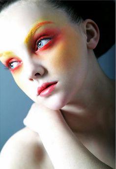 Really great Halloween makeup!! Fire and Flames - Halloween Makeup Ideas 2013