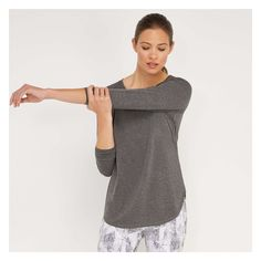 c12f241943b6b Move freely during a workout with this relaxed-fit tee featuring  moisture-wicking stretch