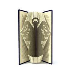 Book folding pattern - CHRISTMAS ANGEL - 183 folds + Tutorial with Simple pattern - Heart - RE0201