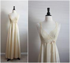 Vintage 70's Olga Nightgown Nude Slip Dress. by PARASOLvintage, $52.00