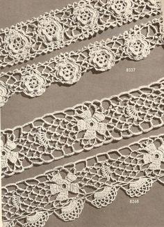1946 Irish Beauties Edgings Vintage Crochet Pattern 280