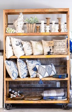 It wasn't always my dream to open a storefront, but that quickly changed after God put a crazy love for the city of Rowlett on the hearts of my mom and I in Feb Farmhouse Homes, Farmhouse Decor, Garage Boutique, Vendor Booth, Brick And Mortar, Store Displays, Home Decor Store, Store Fronts, Product Display