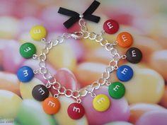 bracelet gourmand bonbons multicolore en fimo : Bracelet par maemele