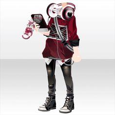 上半身/インナー シックレンズストリートカジュアルスタイルAレッド Drawing Anime Clothes, Dress Drawing, Anime Outfits, Boy Outfits, Anime Dress, Fashion Design Drawings, Model Outfits, Anime Hair, Star Girl