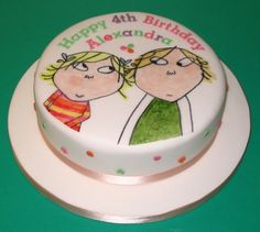 Painted Charlie and Lola cake. LOVE this idea!