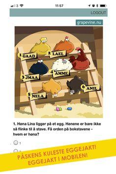 Mobilskattejakt: Eggejakt for barna - Påskens kuleste eggejakt! Hunts, Grape Vines, Barn, Donkeys, Barns, Shed, Vines