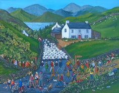 Bloody Tourists! Acrylic on 40cm x 50cm canvas