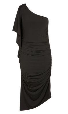 City Chic - BLACK DRAMA DRESS - Women's Plus Size Fashion