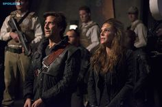 """#The100 2x16 """"Blood Must Have Blood, Part Two"""" - Kane and Abby"""