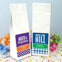 Adult Birthday Gourmet Coffee Favors (Tall Bag)