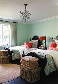 Multiple pictures of rooms--Key Interiors by Shinay: Decorating Girls Room With Two Twin Beds