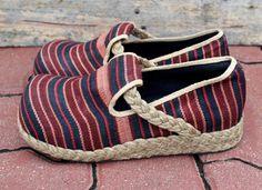 Vegan Womens Shoes Tribal Naga Woven Cotton by SiameseDreamDesign, $42.00