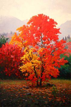 Douglas Aagard, Fire and Rain, 36x24 inch, oil.  More art: www.kirstenlovesart.com