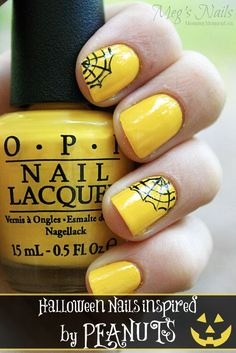 awesome Halloween Nails Inspired by OPI Peanuts