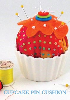 Keep all your pins in one place with a cute cupcake pin cushion!