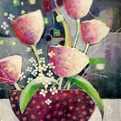 Acryl auf Leinwand, 40 x 40 www.gerdalipski.com YouTube: Gerda Lipski
