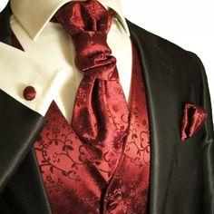 Burgundy Red Wedding Vest with Tie , Cravat, Pocket Square and Cufflinks - http://www.styledetails.com/burgundy-red-wedding-vest-with-tie-cravat-pocket-square-and-cufflinks - http://ecx.images-amazon.com/images/I/51g6SSAPAUL.jpg