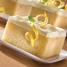Browse Wilton's wide collection of great cake recipes featuring ingredients and online instructions for making homemade cakes from scratch! Lemon Desserts, Köstliche Desserts, Dessert Drinks, Lemon Recipes, Baking Recipes, Delicious Desserts, Lemon Cakes, Lemon Icing, Lemon Buttercream