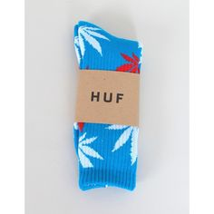 Huf Plantlife Socks - Blue/Red ($20) ❤ liked on Polyvore featuring mens, men's clothing, men's socks, socks and accessories