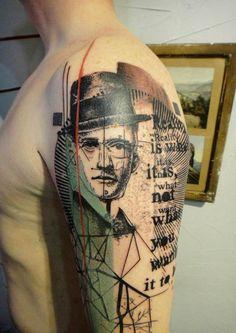 "Tattoo art created by artist Xoïl at ""Needles Side Tattoo Studio"" in France.... Amazing"