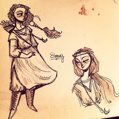 Quick 5 minute doodles of my childhood hero, Eilonwy from the Chronicles of Prydain by Lloyd Alexander. She was so awesome while still being relateable!