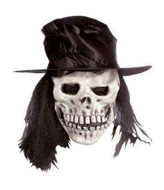 Μάσκα Χάρου Λάτεξ με καπέλο και μαλλιά