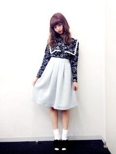 tops : Verybrainskirt : HONEY MI HONEYshoes : R&Eあしたの夜!9月23日 23:15~24:15テレビ朝日「中…