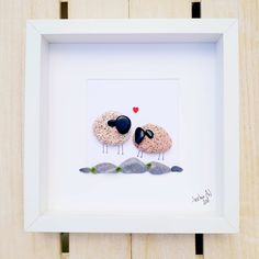 Unique pebble and seaglass pictures from South Devon UK by AnselmoPebbleArt Pebble Stone, Pebble Art, Stone Art, Family Picture Frames, Painted Rocks, Hand Painted, Branch Art, Pebble Pictures, Gifts For Farmers
