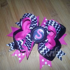 Ready to Ship 4inch Chevron Double Hair Bow by ArelisArtsandCrafts, $7.50