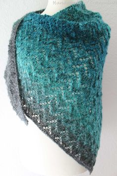Handmade by AnneluM Shawl Patterns, Crochet Patterns, Fiber Art, Knit Crochet, Knitting, Handmade, Paracord, Fashion, Knitting Needles