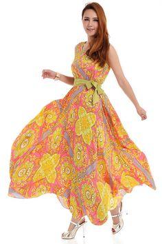 Langes Boho Bohemian Damen Sommer Western Style Jumper Rock Abendkleid Kleid Blumenmuster