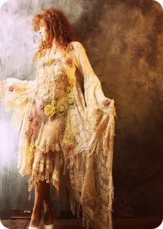 Vintage Bohemian lace dress