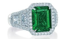 JB Star emerald cut emerald and diamond ring Emerald Cut Diamond Engagement Ring, Emerald Cut Diamonds, Diamond Rings, Engagement Rings, Titanic Jewelry, Ruby Pendant, My Birthstone, Colombian Emeralds, Turquoise Bracelet