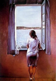 Girl at the   Window 1925 Dali, Salvador oil painting reproduction