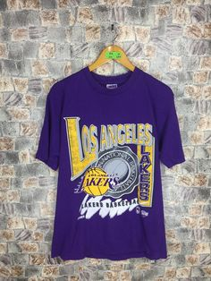 8a26600db12 LAKERS Nba T shirt Large Men/Women Nba Champion Sport Basketball Vintage Lakers  Los Angeles Tees Bryant T shirt Size L