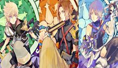 Tags: Anime, Kingdom Hearts, Aqua (Kingdom Hearts), Kingdom Hearts: Birth by Sleep, Terra