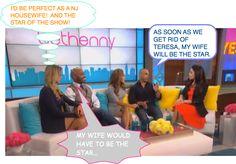 WHO'S THE STAR ON RHONJ??  MELISSA/JOE GORGA And TIKI BARBER With New Pregnant Wife on BFrankel Talk Show