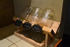 Wood stand to accommodate large or small mason jars with 3 1/4 or 3 1/2 for those who like to grow their own sprouts. It comes with a drip tray for neat counter growing and a rustic style and 3 lids with screen included. These stands are made with rough, recycled wood which is sanded down for the smoothest finish possible. Because the availability of the wood varies each stand will vary from the one shown in this listing. 3 chalkboard labels for easy identification. Again, the shap...