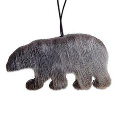 Polarbear ornament made from sealskin Homemade Christmas, Christmas Crafts, Christmas Decorations, Christmas Ornaments, Skin Craft, Bear Crafts, Nativity Crafts, Native Indian, How To Make Ornaments