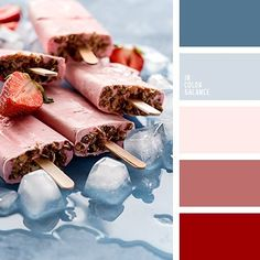 Color Palette Source by burgundystorm Red Colour Palette, Red Color Schemes, Color Palate, Color Combos, Palette Design, Blue Shades Colors, Color Blue, Decoration Palette, Strawberry Color