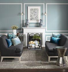 Blue/Gray Living Room