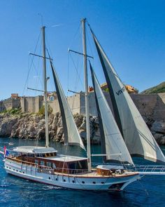 Gulet Cruise Corsica with 6 cabins and crew. Sailing crewed charter Cruise France. Port Bonifacio Corse. Www.yachtboutique.eu Gulet Victoria 6 cabin 12 persons with private bathroom and private chef.