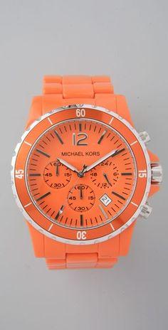 neon orange watch - Michael Kors <3