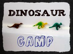 Our dinosaur camp - books, crafts, and more fun! Dino preschool crafts and fun.