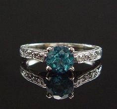 tacori + blue diamond <3