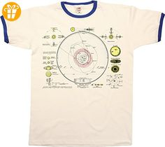 The Solar System Map Mens RINGER T-Shirt Retro Style - T-Shirts mit Spruch   Lustige und coole T-Shirts   Funny T-Shirts (*Partner-Link)