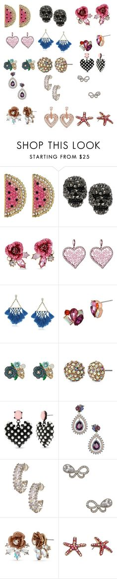 """Betsey Johnson Earrings"" by dreamerz-dream-on ❤ liked on Polyvore featuring Betsey Johnson"