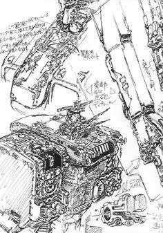 concept ships: Space Battleship Yamato concept art by Kazutaka Miyatake