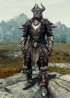 Aspect of Alduin  by Ocean Splitter Ebony Armor Dragonscale Boots and Gauntlets Dragonplate Helmet & Imperial Knight
