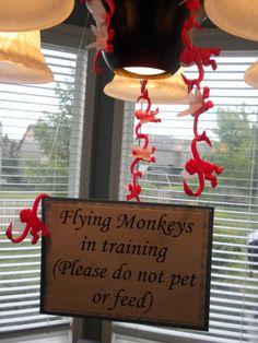 Flying monkeys in training
